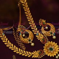 Stylish Peacock Multi Colour Fashion Jewelry Latest Matte Gold Imitation Designs Shop Online