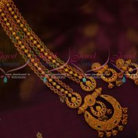 Multi Colour Stone Chain Haram Latest Fashion Jewellery TV Artists Designs Shop Online