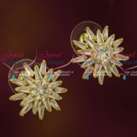 AD White Stones Sparkling Ear Studs Latest Jewelry Designs Online
