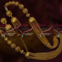 Antique Beads Multi Strand Chain Fashion Jewelry Jhumka Earrings Latest Designs Shop Online
