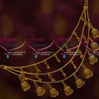 3 Layer Chain Jhumka Drops Antique Mattal Latest Jewelry Designs Online