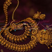 South Indian Jewelry Flexible Broad Peacock Haram Temple Pendant Jhumka Shop Online