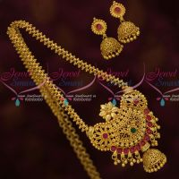South Indian Gold Plated Jewelry Chain Pendant Jhumka Latest Designs Online