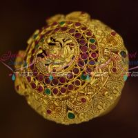One Gram Gold Plated Sindoor Box Temple Jewelry Real Look Auspicious Ornaments Online