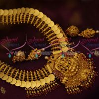 South Indian Temple Jewelry Broad Ruby Haram Double Layer Bead Drops Shop Online