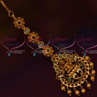 Temple Nethijuti AD Stones Maang Tikka Intricate Work Traditional Jewellery Designs Shop Online