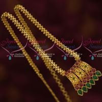 Daily Wear Gold Plated Chain Pendant South Indian Low Price Jewelry Online