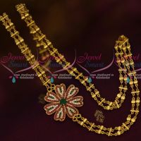 South Indian AD Mugappu Gold Covering Chain 24 Inches Rettai Vadam Fancy Online