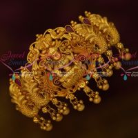 Peacock Temple Matte Gold Plated Hair Clip Latest Jewelry Accessory Online
