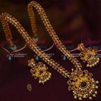 South Indian Haram Matte Gold Plated AD Ruby White Stones Latest Fashion Jewellery Online
