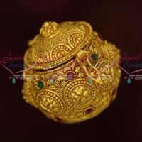 Small Size Intricately Designed Like Gold Sindoor Kumkam Barina Box Online