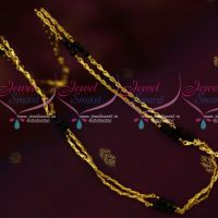 18 Inches Short Rettai Vadam Double Line Crystal Gobi Chains Gold Covering Jewelry Online