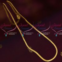 2.5 MM Thin Delicate Flat Chain Daily Wear Imitation Jewelry South Indian