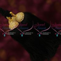 AD Ruby Emerald Semi Precious Stones Hair Kuppulu Latest Traditional Hair Accessory Online