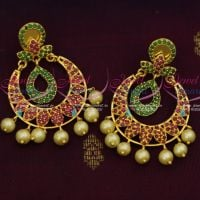 Ruby Emerald Stylish Light Weight Earrings Latest Imitation Jewellery Designs Low Price