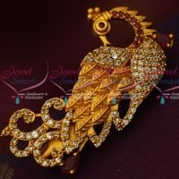 Peacock Design Stylish Antique Matte AD Stones Matching Saree Brooches Shop Online
