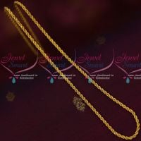 Twisted Design Daily Wear Gold Plated Chains Flexible Imitation Jewelry Online