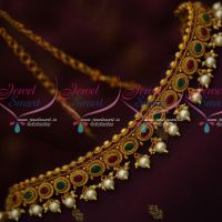 Floral Design Red Green Stones Fancy Kamar Patta Pearl Drops New Designs Online