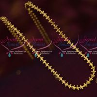 Gobi Chain Double Side Fancy Beads Daily Wear Gold Covering Chains South Indian Online