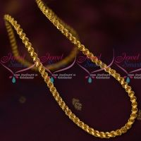 Thick Heavy Murukku Kodi Twisted Gold Plated Chain Daily Wear 24 Inches Chain Online