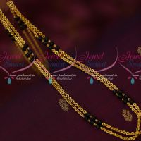 Rettai Vadam Double Layer Chain Black Crystals South Indian Fashion Jewelry Online