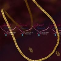 5 MM Flat Single Side Design Chain Daily Wear Gold Covering Imitation Online