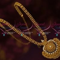 South Indian Gold Covering Haram White AD Stones Daily Wear Collections Online