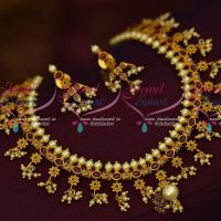 Kemp AD Combination Floral Gutta Pusalu Matte Gold Plated Traditional Jewelry Online