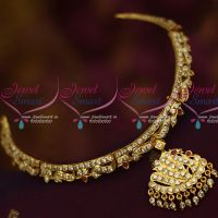 Gold Plated Handmade Attigai South Traditional Jewellery Designs Shop Online