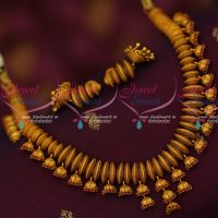 Antique Jewellery Half Beads Cutting Necklace Jhumka Drops Matching Earrings Online
