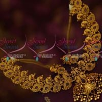 Antique Fashion Jewellery Peacock Broad Ruby Necklace Latest Trendy Collections Online