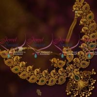 Ruby Emerald Antique Fashion Jewellery Peacock Broad Latest Trendy Collections Online