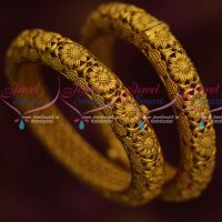 Antique Gheru Reddish Finish Screw Open Kada Bangles Brass Metal Jewellery Shop Online