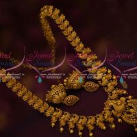 Matte Gold Plated Jewellery Kemp Haram Traditional Design Jhumka Earrings Online
