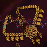 Mango Naksi Floral Design Matte Gold Plated Bridal Jewelry Chain Vanki Shop Online