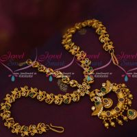 Bridal Matte Gold Damini Mathapatti AD Stones Gold Design Traditional Hair Jewellery Shop Online