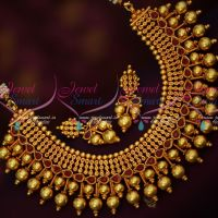 Antique Reddish Plated Broad Jewellery Set Latest Party Wear Necklace Online