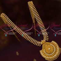 AD White Stones South Indian Gold Covering Haram Daily Wear Jewellery Online