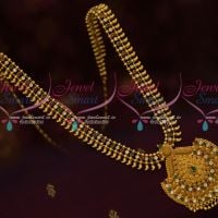 AD Multi Colour Stones South Indian Gold Covering Haram Daily Wear Jewellery Online
