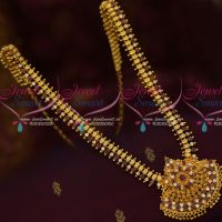Ruby White New Leaf Design Haram South Indian Gold Covering Jewellery Shop Online
