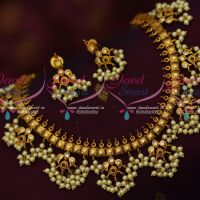 Ruby Stones Gutta Pusalu South Indian Traditional Design Imitation Collections Online