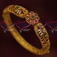 Light Weight Antique Jewellery Semi Precious Stones Kada Bracelets Online