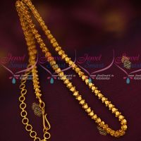 18 Inches Matte Reddish Gold Plated Chain Fancy Cutting Design Online