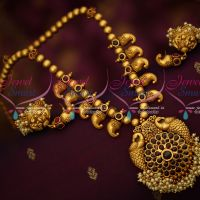Real Gold Finish Kemp Beaded Mango Necklace Antique Reddish Plated Jewellery Online