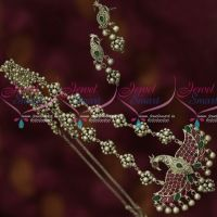 Oxidised Finish Silver Plated Beaded Peacock Jewellery Latest Trendy Collections Online
