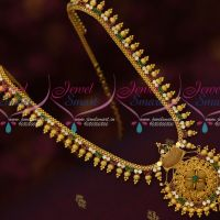 Multi Color AD Beads Design Kerala Style Gold Covering Jewellery Haram Designs Online