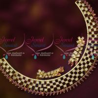 AD Diamond Finish Tube Shape Sparkling AD Stones Stylish Jewellery Set Online