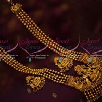 4 Line Beads Haram Broad Temple Nagas Pendant Antique Traditional Jewellery Online
