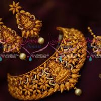 Temple Jewellery Latest Reddish Matte Finish Premium Bridal Collections Online