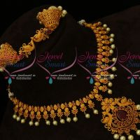 Ruby Stones Intricately Designed Fashion Jewellery Gold Matte New Style Online